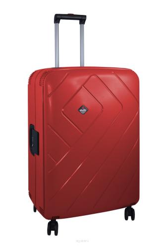 7a9c0096aeaf0 Walizka podróżna - duża, na kółkach, Dielle PPL8, czerwona